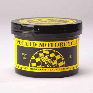 PECARD BLACK Motorcycle Weatherproof Leather Dressing 8 oz Shoe & Leather Care Pecard