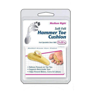 Pedifix P54 Felt Hammer Toe Cushion - Comforts Bent-Under Toes, Sore Toe Tips Foot Care Pedifix