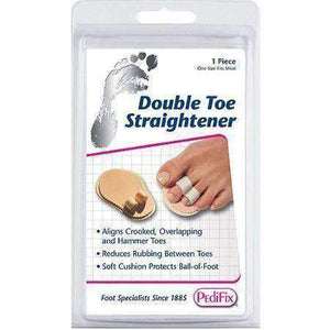 Pedifix P57 Double Toe Splint Straightener - Eases Pain of Crooked/Hammertoes Foot Care Pedifix
