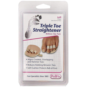 Pedifix P58 Triple Toe Splint Straightener - Eases Pain of Crooked/Hammertoes Foot Care Pedifix Left