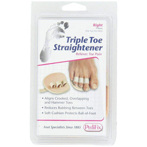 Pedifix P58 Triple Toe Splint Straightener - Eases Pain of Crooked/Hammertoes Foot Care Pedifix Right