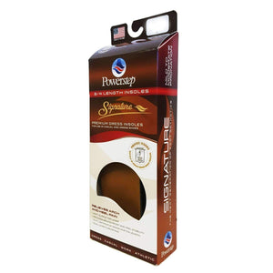 Powerstep Signature Leather 3/4 Orthotic Arch/Heel Support Insoles Foot Care Powerstep