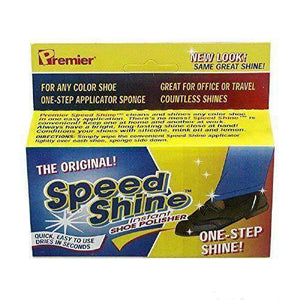 Premier Speed Shine The Original Instant Shoe Shine Polish Sponge Shoe & Leather Care Premier