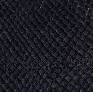 Premium Fish Skin Exotic Leather - Black Craft & Repair Shadi