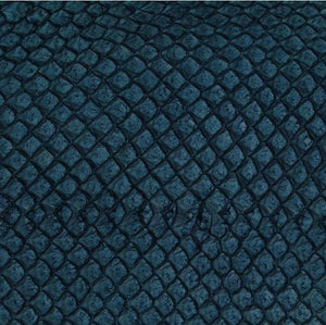 Premium Fish Skin Exotic Leather - Dark Blue Craft & Repair Shadi