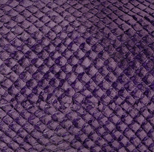 Premium Fish Skin Exotic Leather - Eggplant Craft & Repair Shadi