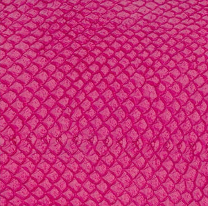 Premium Fish Skin Exotic Leather - Hot Pink Craft & Repair Shadi