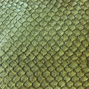 Premium Fish Skin Exotic Leather - Olive Craft & Repair Shadi