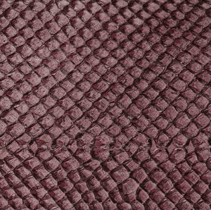 Premium Fish Skin Exotic Leather - Prune Craft & Repair Shadi
