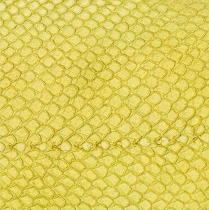 Premium Fish Skin Exotic Leather - Yellow Craft & Repair Shadi