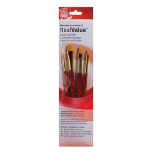 Princeton Real Value 4-Brush Set - 9123 Paint & Dye Princeton