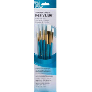 Princeton Real Value 5-Brush Set - 9174 Paint & Dye Princeton