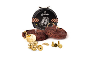 Quickshoelace Prestige - 24K Gold Plated Accessories,Footwear Quickshoelace Dark Copper Spike