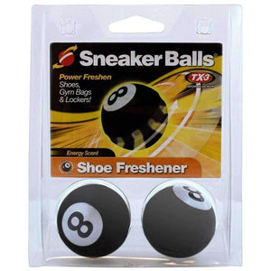 Sneaker Balls Original TX-3 Odor Blocker Shoe/Gym/Sport Freshener Deodorizer Foot Care Sneaker Balls 8 Ball Black One Size
