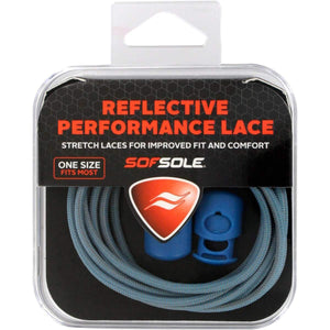 Sof Sole Reflective Performance Shoe Laces Apparel Accessories Sof Sole Aqua Blue