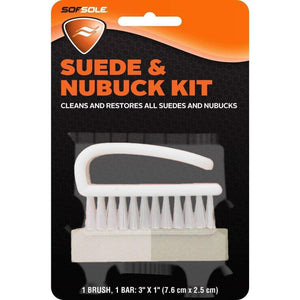 Sof Sole Suede & Nubuck Cleaner Restorer Kit - Nylon Brush & Combo Gum Paint & Dye Sof Sole