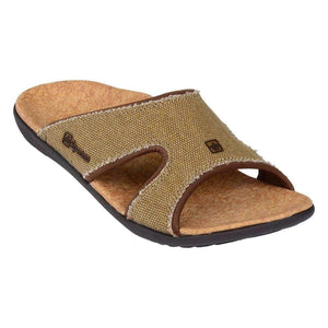 Spenco Kholo Straw/Java/Cork Women's Total Support Slide Sandals Footwear Spenco US 10 Cork