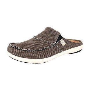 Spenco Men's Siesta Canvas Orthotic Slide - Java Footwear Spenco US 9