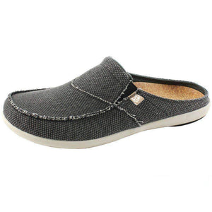 Spenco Men's Siesta Canvas Orthotic Slides - Charcoal Footwear Spenco US 10 Charcoal