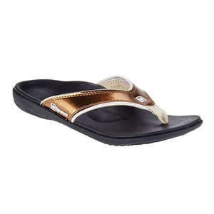 Spenco Women's PolySorb Yumi Orthotic Sandals - Metallic Footwear Spenco Metallic Bronze US 10