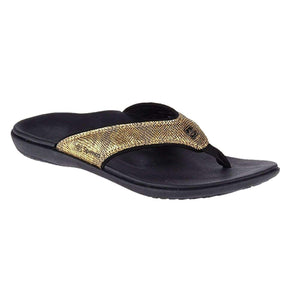 Spenco Women's PolySorb Yumi Python Orthotic Thong Sandals Footwear Spenco Gold US 10