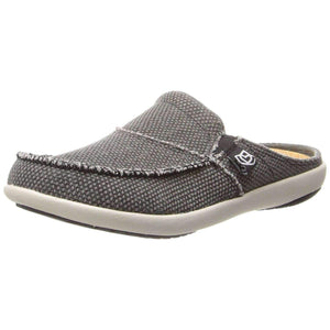 Spenco Womens Siesta Canvas Orthotic Slides - Charcoal Grey Footwear Spenco US 10 Charcoal Grey