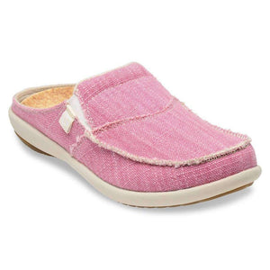 Spenco Womens Siesta Canvas Orthotic Slides - Pink Footwear Spenco US 10 Pink