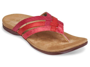 Spenco Women's Triple Strap Total Support Sandals Footwear Spenco 10 B(M) US Red/Rose