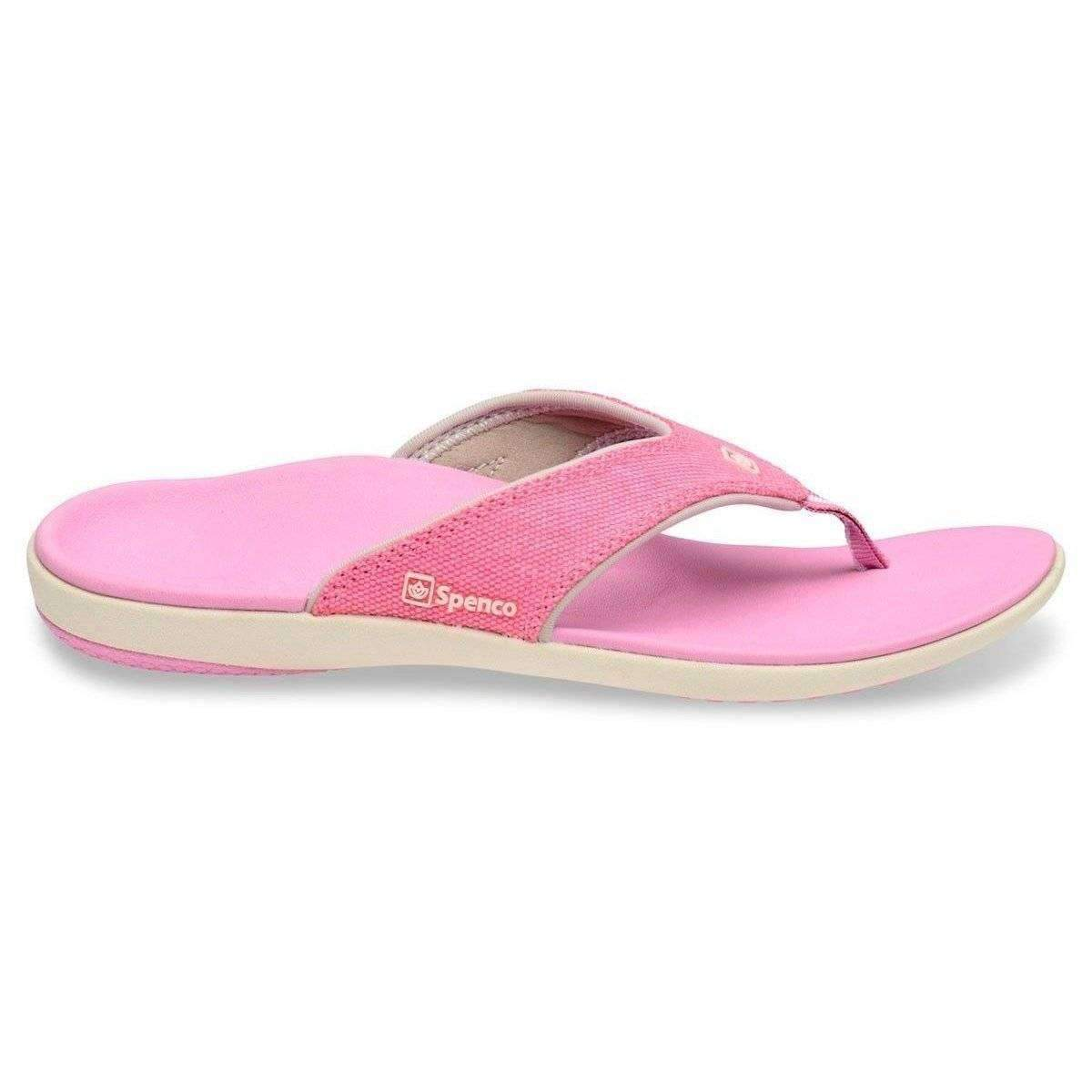 Spenco Yumi Canvas Pink Womens Total Support Sandals -8660