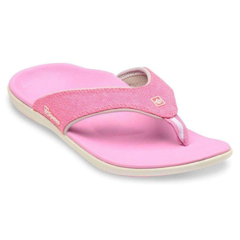 Spenco Yumi Canvas Pink Womens Total Support Sandals -1875