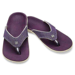 Spenco Yumi Canvas Purple Women's Total Support Sandals Thong Flip Flops Footwear Spenco