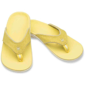 Spenco Yumi Canvas Sunshine Women's Total Support Sandals Thong Flip Flops Footwear Spenco US 10 Yellow