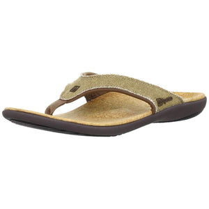 Spenco Yumi Straw/Java/Cork Men's Total Support Sandals Footwear Spenco US 10 Light Brown