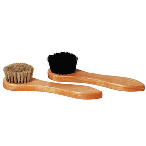 Star Horsehair Shoe Shine Dauber Brush - One Pair (Dark + Light) Apparel Accessories Star