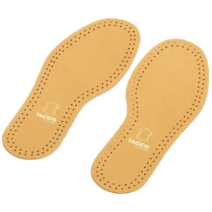 Tacco 613 Luxus Thin Sheepskin Leather RelaxFlex Active Carbon Anti-Odor Insoles for Men Foot Care Tacco US 10