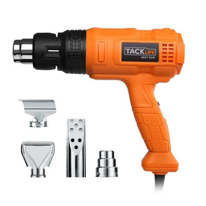 TACKLIFE Professional Heat Gun 1500W 3 Temp-Settings & 4 Nozzle Attachments Craft & Repair TACKLIFE