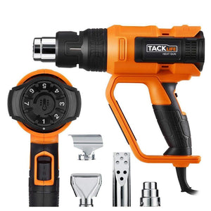 TACKLIFE Professional Heat Gun 1600W Adjustable 7 Heat Levels, 3 Temp-Settings & 4 Nozzle Attachments Craft & Repair TACKLIFE