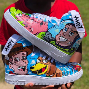 """Toy Story 4"" Nike Air Force 1 High 07 Custom Shoes Custom Made Nike"