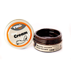 TRG the One Shoe Boot Cream Leather Polish 50 ml Jar (1.76 oz) Shoe & Leather Care TRG #106 Dark Brown