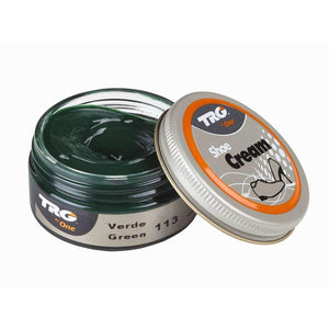 TRG the One Shoe Boot Cream Leather Polish 50 ml Jar (1.76 oz) Shoe & Leather Care TRG #113 Green