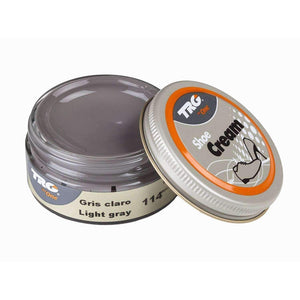 TRG the One Shoe Boot Cream Leather Polish 50 ml Jar (1.76 oz) Shoe & Leather Care TRG #114 Light Grey