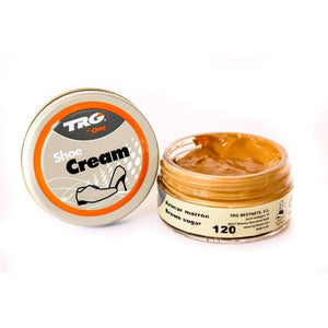 TRG the One Shoe Boot Cream Leather Polish 50 ml Jar (1.76 oz) Shoe & Leather Care TRG #120 Brown Sugar