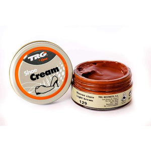 TRG the One Shoe Boot Cream Leather Polish 50 ml Jar (1.76 oz) Shoe & Leather Care TRG #129 Light Brown