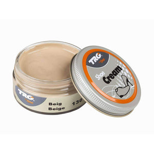 TRG the One Shoe Boot Cream Leather Polish 50 ml Jar (1.76 oz) Shoe & Leather Care TRG #130 Beige