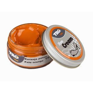 TRG the One Shoe Boot Cream Leather Polish 50 ml Jar (1.76 oz) Shoe & Leather Care TRG #163 Pale Orange