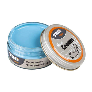 TRG the One Shoe Boot Cream Leather Polish 50 ml Jar (1.76 oz) Shoe & Leather Care TRG #165 Turquoise