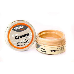 TRG the One Shoe Boot Cream Leather Polish 50 ml Jar (1.76 oz) Shoe & Leather Care TRG #178 Beech