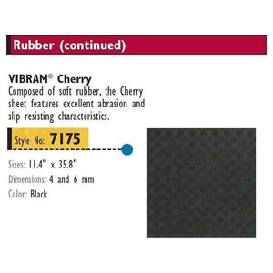 "Vibram 7175 ""Cherry"" Soling Sheet Shoe/Boot Sole Repair 4mm/6mm 35"" x 11"" -Black Craft & Repair,Shoe & Leather Care Vibram"