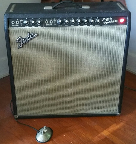 1965 Blackface Super Reverb w/footswitch