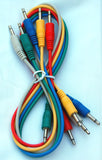 Analogue Systems 3.5mm Patchcord 20 inch 5-pack colors